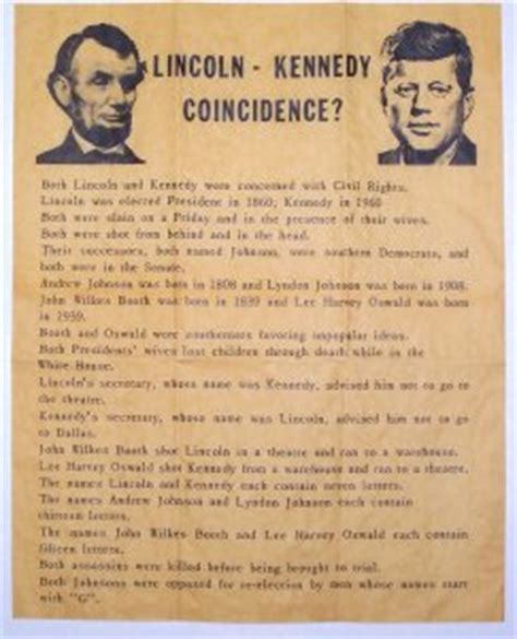 lincoln kennedy coincidences kennedy and lincoln coincidence