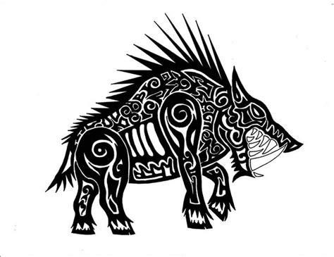 tribal boar tattoo tribal boar by carabunga on deviantart