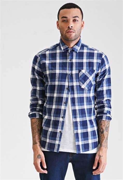 Original Gq Mens Modern Fit Sleeve Kemeja Shirt White 9zsaid forever 21 slim fit plaid shirt in blue for lyst