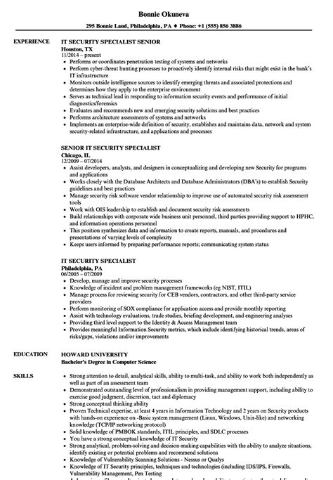 Information Security Resume Exles Talktomartyb It Security Resume Template