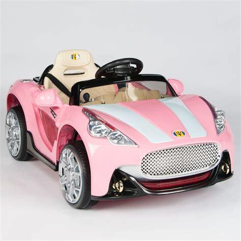 pink kid car maserati style 12v kids ride on car electric power wheels