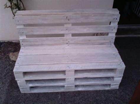 canape en palette canap 233 en palette bois blanchi de atelier bois ardennes
