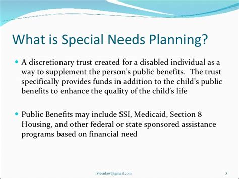 child benefit section address financial planning for children with special needs