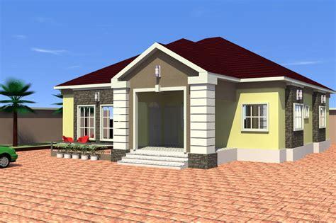 four bedroom bungalow design 4 bedroom bungalow 3d cad model grabcad