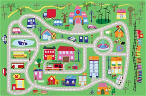 printable children s road map 3x5 area rug kids play road street city country map fun