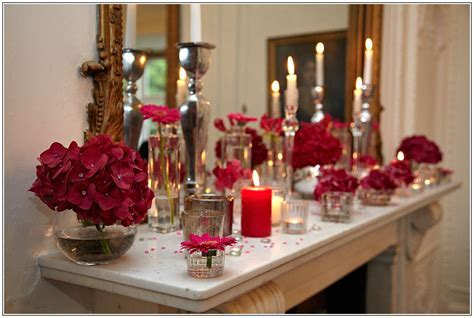 Flowers and candles decorating wedding breakfast function