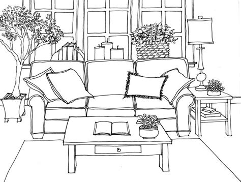 61 best interior line drawings images on
