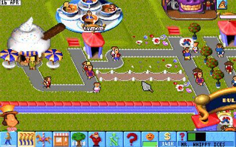 theme park bullfrog theme park simulation for dos 1994 abandonware dos