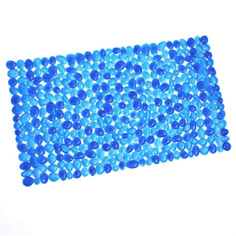 Pebble Mat by Slipx Solutions 17 In X 30 In Pebble Bath Mat In Blue