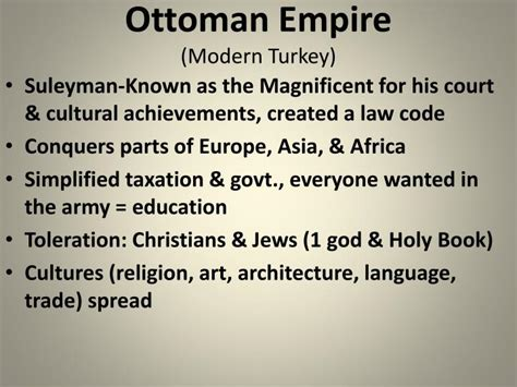 Accomplishments Of The Ottoman Empire Ppt Muslim Empires Unit 2 Sswh 12 A B Powerpoint Presentation Id 5568086