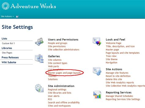 create a custom page layout for a publishing site using