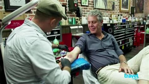 anthony bourdain tattoos the layover s miami episode just the one liners eater