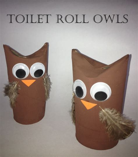 Toilet Paper Owl Craft - me and my shadow loo roll crafts