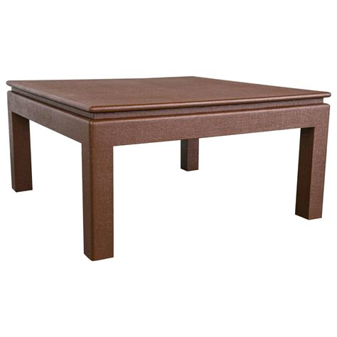 karl springer style floating top parsons coffee table at