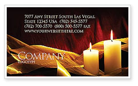 Candle Business Cards Templates by Candle Light Business Card Template Layout