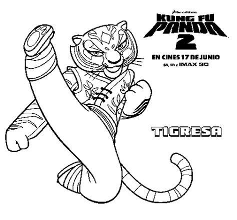 imagenes de kung fu panda 3 para dibujar dibujo de tigresa para colorear dibujos net