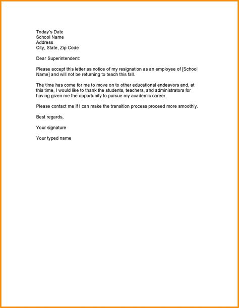 resume examples templates resignation letter from work sample
