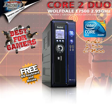Cpu C2d 293ghz G41 Vga 512mb brand new intel 2 duo e7500 2 93 ghz wolfdale asrock g41 vs with intel g41 ich7 chipsets