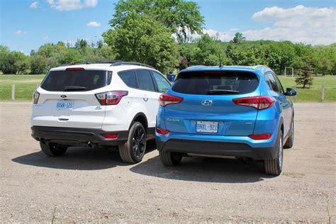 compare ford escape to hyundai santa fe hyundai tucson compared to ford escape