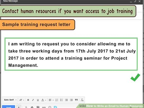 how to write email to hr for sending resume sle 3 ways to write an email to human resources wikihow