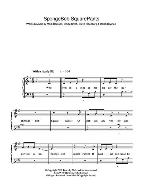 Go Keyboard Themes Spongebob | spongebob squarepants theme song sheet music by mark