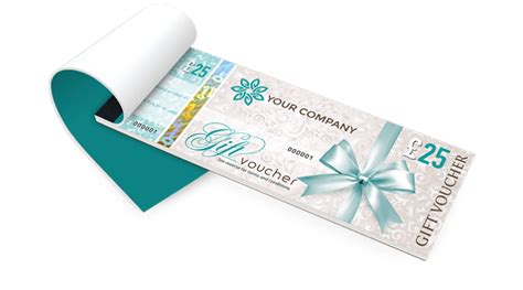 Gift Voucher Printing Secure Personalised Gift Vouchers Voucher Booklet Template