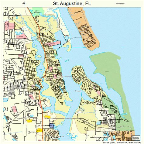 st augustine map st augustine florida map 1262500