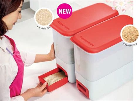 tupperware rice smart 10kg rice dispenser 11street