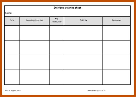 printable planning sheets planning sheets elsa support