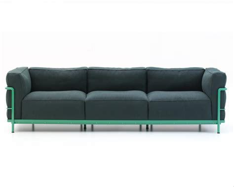 cassina sofa price lc3 three seater sofa on a steel frame cassina luxury