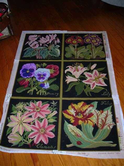 needlepoint rug kits elizabeth bradley rug in process my collectibles