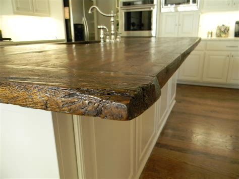 antique white oak barnwood kitchen island rustic