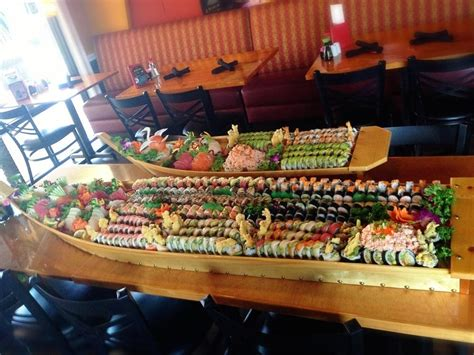 boat sushi monster sushi boats for catering order yelp