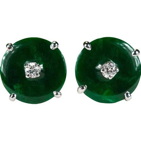imperial jade jade earrings studs vintage jade ear studs trendearrings