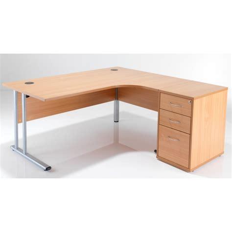 crescent desk desk high pedestal bundle deal