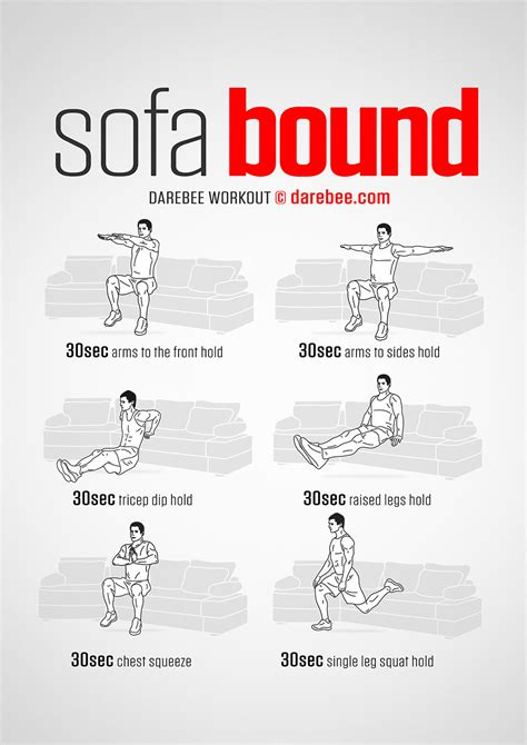 couch exercises sofa bound workout