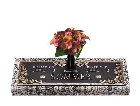 Flat Grave Markers With Vase by Dynasty Dogwood Companion Bronze Grave Marker With Vase
