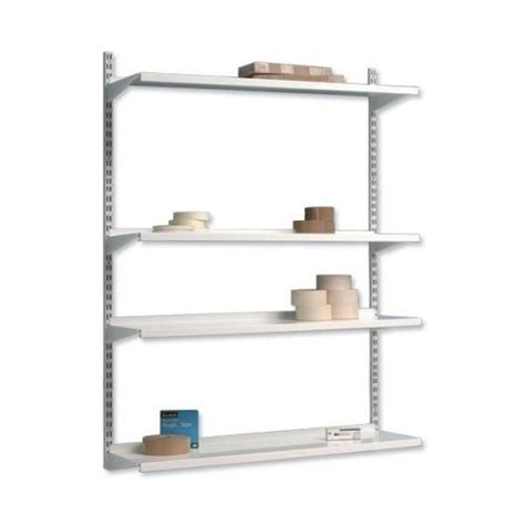 Best Shelf by Trexus Top Shelf Shelving Unit System 4 Shelves Metal 02102x