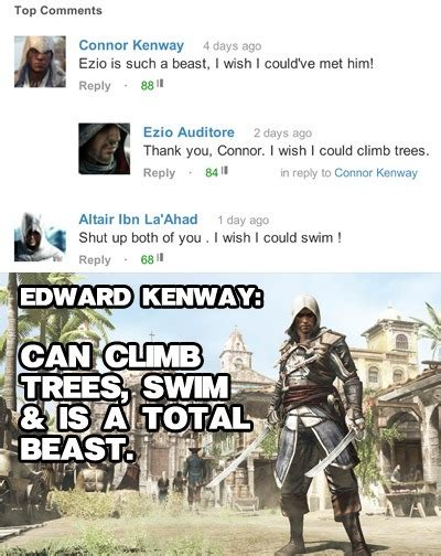 Funny Assassins Creed Memes - assassins creed memes like a boss