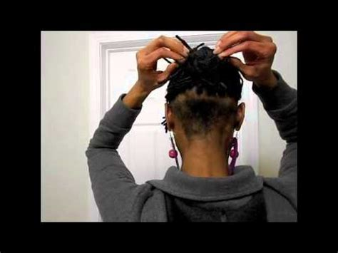 can you get a haircut where you can wear it as a bob and flipped 3 twists and a chignon on undercut loc bob youtube