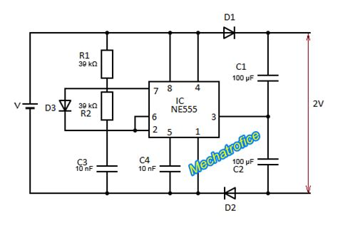 voltage doubler integrated circuit dc to dc voltage doubler schematic mechatrofice