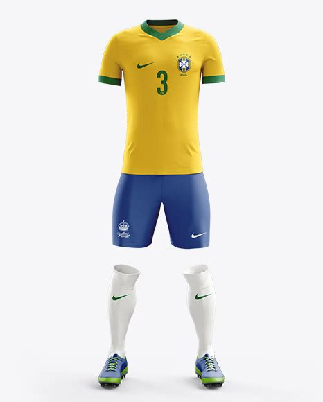 Ordinal Raglan World Cup 02 football kit with v neck t shirt mockup front view in