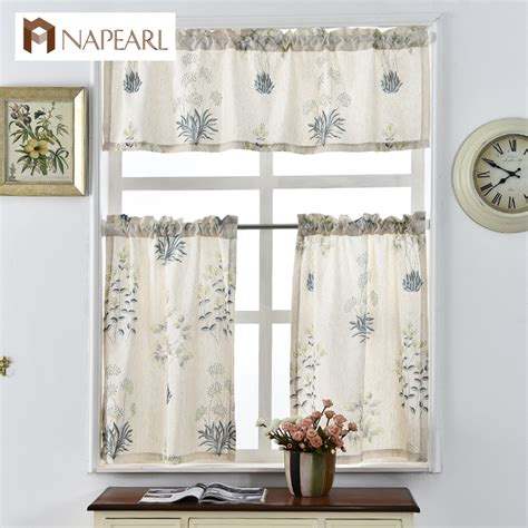 ready made draperies window treatments printed short curtains ᐊ for for kitchen linen fabrics