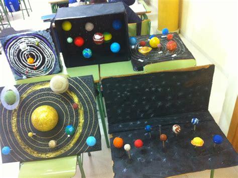 sistema solar con material reciclado todas las maquetas de 1 186 eso b