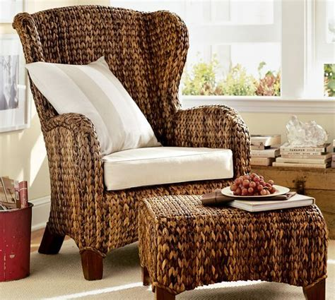 Pottery Barn Seagrass Chair seagrass wingback armchair from pottery barn colonial tropical interior design