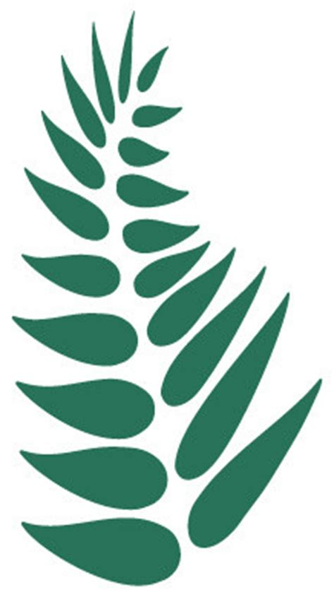 Outdoor Wall Mural Stencils fern leaf stencil 2 for painting contemporary wall