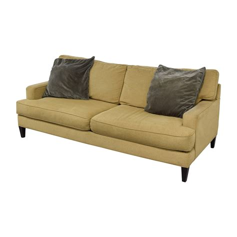 room and board sectional sofa 64 off room and board room board beige two cushion