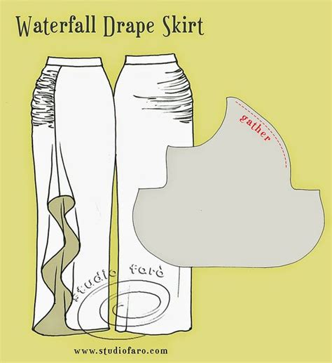 draped skirt tutorial pattern puzzle waterfall drape skirt well suited
