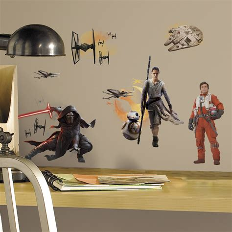 wars wall decals wars 7 the awakens charecters small wall decals