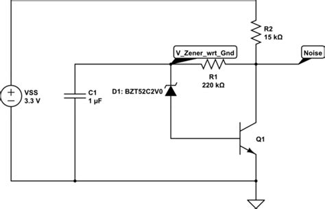 bjt transistor noise zener noise generator npn bjt lifier analysis electrical engineering stack exchange